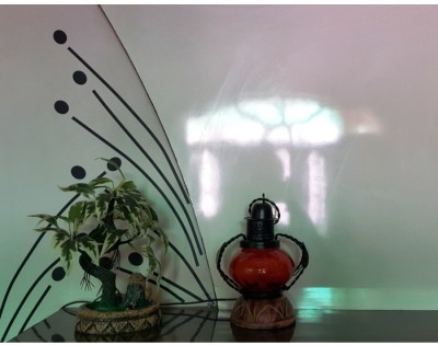 Onlineshoppee Orange Glass Lantern