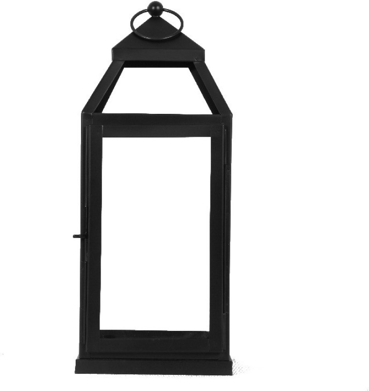 Yudezine Black Iron Lantern(40 cm X 16 cm, Pack of 1)