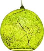 Salebrations Handmade Green Cotton Lantern(25 cm X 25 cm, Pack of 1)