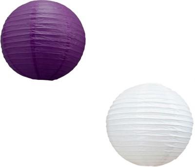 Santa Stores Chinese Purple, White Paper Lantern