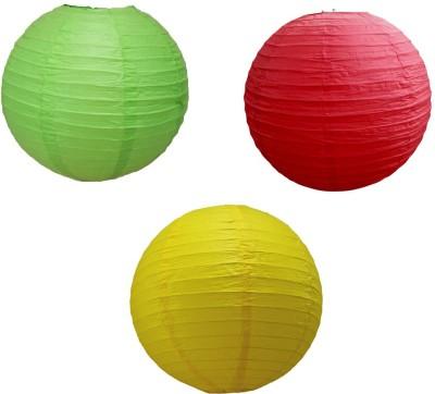 Santa Stores Chinese Green, Yellow, Red Paper Lantern