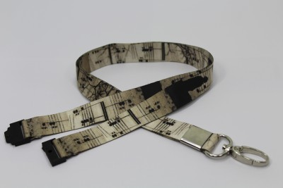 Weird Wolf WW-OS-13 Lanyard(Black)