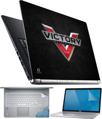 FineArts Victory Motorcycles 4 in 1 Laptop Skin Pack with Screen Guard, Key Protector and Palmrest Skin Combo Set