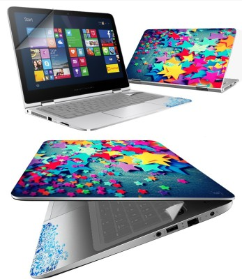 FineArts Paper Star 4 in 1 Laptop Skin Pack with Screen Guard, Key Protector and Palmrest Skin Combo Set