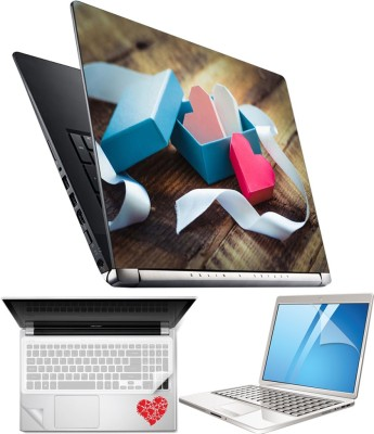 FineArts Heart H06 4 in 1 Laptop Skin Pack with Screen Guard, Key Protector and Palmrest Skin Combo Set