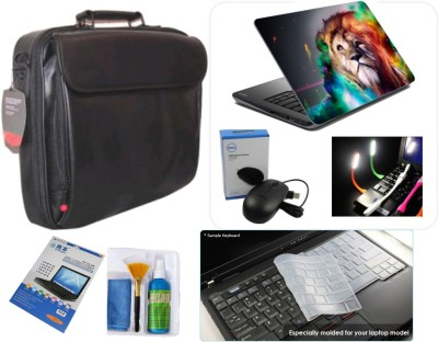 WoWCreations Laptop Accessories Combo with Leather Bag Combo Set