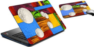 meSleep Multi Moon Laptop Skin And Mouse Pad 295 Combo Set