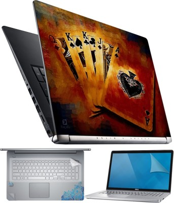 FineArts QKKJA 4 in 1 Laptop Skin Pack with Screen Guard, Key Protector and Palmrest Skin Combo Set