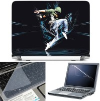 FineArts Dance 3 in 1 Laptop Skin Pack With Screen Guard & Key Protector Combo Set(Multicolor)