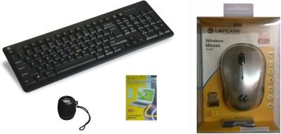 Lapcare Kit 5 Alfa Keyboard, ScreenGuard 14.1, Speaker LBS-333, WL-300 Mouse Combo Set