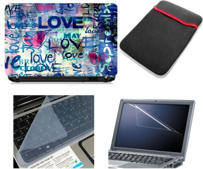 Namo Art Laptop Accessories Love typography 4in1 14.1 Combo Set
