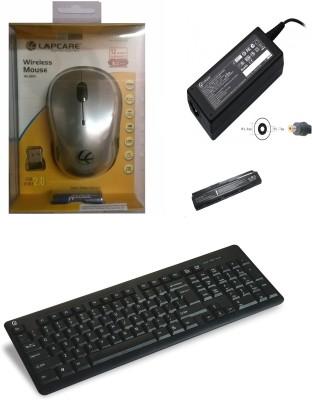 Lapcare Kit 1 Battery DV2000, Adapter, WL-300 Mouse, Alfa Keyboard Combo Set