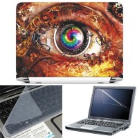 FineArts Mechanical Eye 3 in 1 Laptop Skin Pack With Screen Guard & Key Protector Combo Set(Multicolor)
