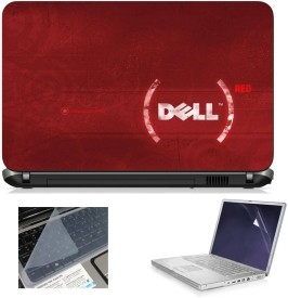Print Shapes Dell Red Combo Set(Multicolor)