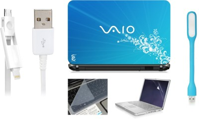 Print Shapes Sky blue vaio Combo Set