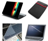 Namo Art 4in1 Laptop Skins with Laptop Sleeve, Screen Guard and Key Protector HQ1077 15.6 Inch Combo Set(Multicolor)