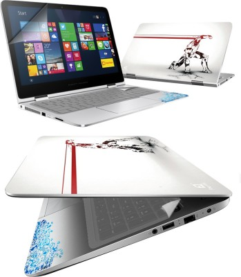 FineArts Comic Art 4 in 1 Laptop Skin Pack with Screen Guard, Key Protector and Palmrest Skin Combo Set