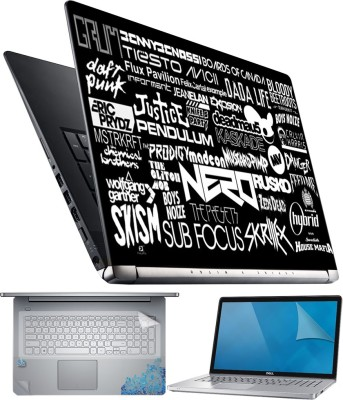 FineArts Focus 4 in 1 Laptop Skin Pack with Screen Guard, Key Protector and Palmrest Skin Combo Set