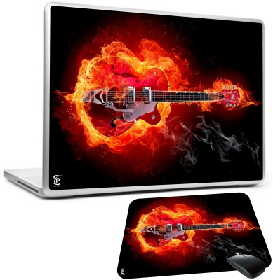 Print Shapes Burning guitar flame Combo Set