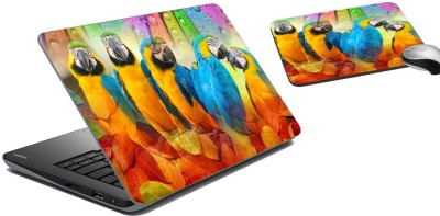 meSleep Parrot Laptop Skin and Mouse Pad 73 Combo Set