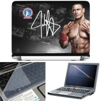 FineArts John Cena 3 in 1 Laptop Skin Pack With Screen Guard & Key Protector Combo Set(Multicolor)