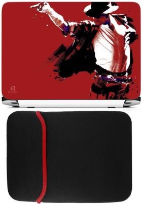 FineArts Jackson Laptop Skin with Reversible Laptop Sleeve Combo Set