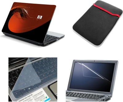Namo Art Laptop Accessories Red HP 4in1 14.1 Combo Set