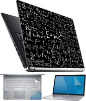 FineArts EMC2 Black 4 in 1 Laptop Skin Pack with Screen Guard, Key Protector and Palmrest Skin Combo Set(Multicolor)