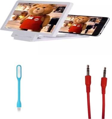 Bigkik 3d Phone Screen+ Aux+ Led Lamp Combo Set
