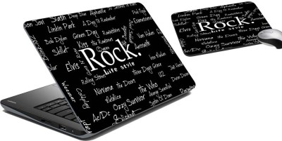 meSleep Rock Laptop Skin and Mouse Pad 1 Combo Set