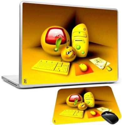 Print Shapes 3D yellow Computer Combo Set