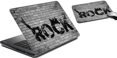 meSleep Brick Rock Laptop Skin and Mouse Pad 15 Combo Set