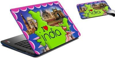 meSleep I Love India Laptop Skin and Mouse Pad 173 Combo Set
