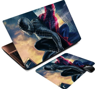 Print Shapes black and colored spiderman Combo Set