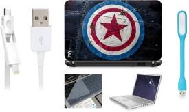 Print Shapes Captain America Shield Combo Set(Multicolor)