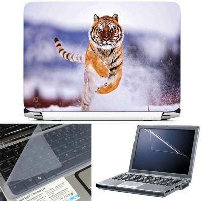 FineArts Liger in Ice 3 in 1 Laptop Skin Pack With Screen Guard & Key Protector Combo Set