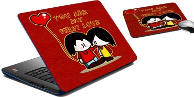 meSleep You Are My First Love Laptop Skin And Mouse Pad 403 Combo Set