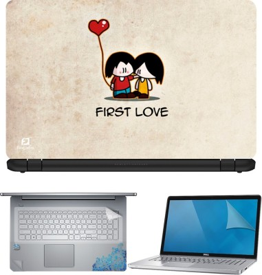 FineArts First Love 4 in 1 Laptop Skin Pack with Screen Guard, Key Protector and Palmrest Skin Combo Set