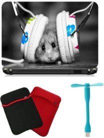 Print Shapes Musical Mice with Headphone Combo Set(Multicolor)
