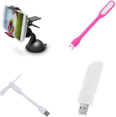 Bigkik MOBILE HOLDER, LED LIGHT, USB FAN, PORTABLE USB LIGHT Combo Set