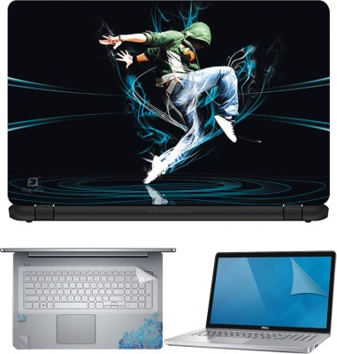 FineArts Dance 4 in 1 Laptop Skin Pack with Screen Guard, Key Protector and Palmrest Skin Combo Set
