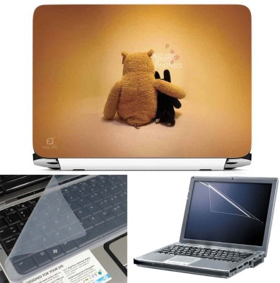 FineArts We are Good Brothers 3 in 1 Laptop Skin Pack With Screen Guard & Key Protector Combo Set