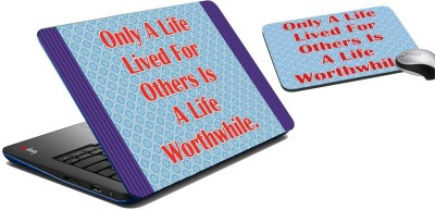 meSleep Life Lived for Others Laptop Skin And Mouse Pad 267 Combo Set