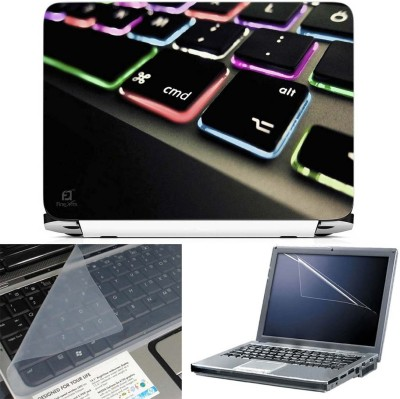 FineArts Keyboard Color Led 3 in 1 Laptop Skin Pack With Screen Guard & Key Protector Combo Set