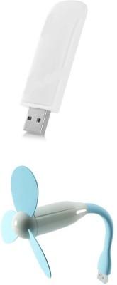 Bigkik Portable Usb Light, Usb Fan Combo Set