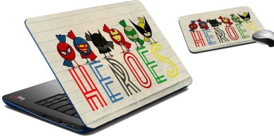 meSleep Heroes Laptop Skin And Mouse Pad 306 Combo Set
