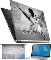 FineArts Ronaldo Celebrate 4 in 1 Laptop Skin Pack with Screen Guard, Key Protector and Palmrest Skin Combo Set(Multicolor)