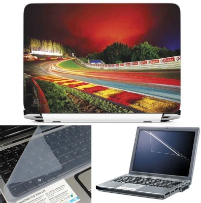 FineArts Spa Francorchamps Circuit 3 in 1 Laptop Skin Pack With Screen Guard & Key Protector Combo Set