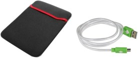 QP360 Expandable Sleeve 17 inch-USB Charge and Sync Cable for Smart Phone Combo Set