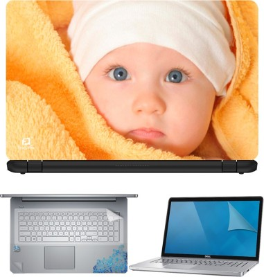 FineArts Baby 4 in 1 Laptop Skin Pack with Screen Guard, Key Protector and Palmrest Skin Combo Set